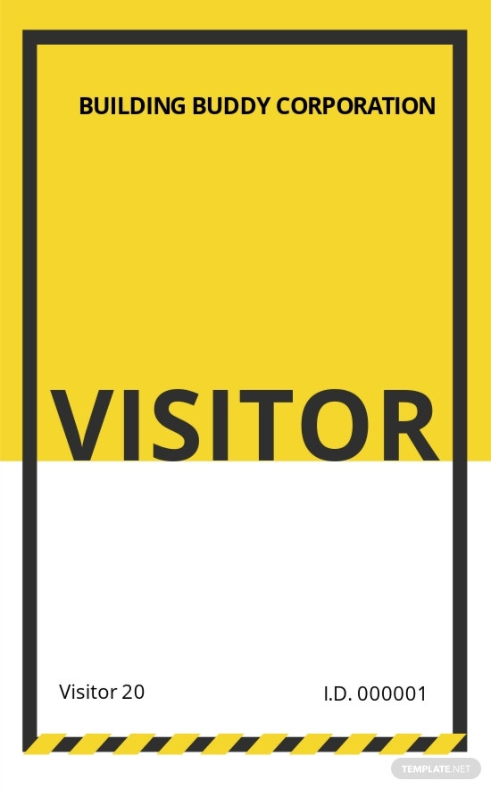 Construction Visitor ID Card Template