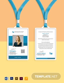 Construction Supervisor ID Card Template