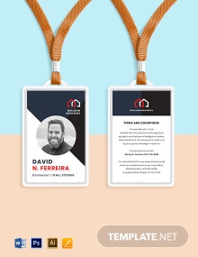 Construction Site ID Card Template