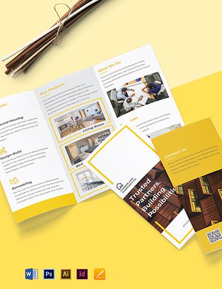 Commercial Construction Brochure Format