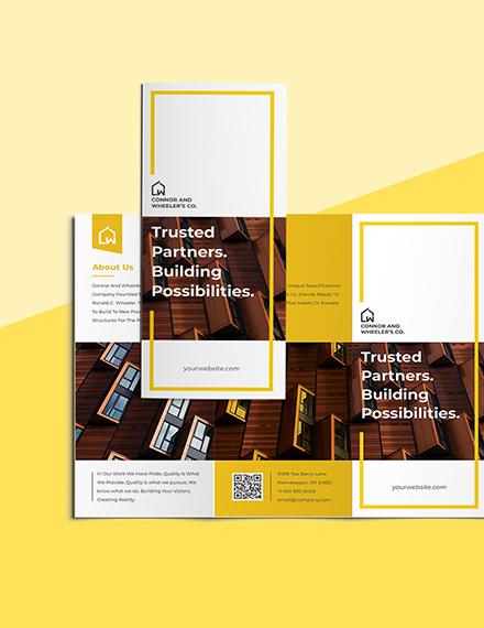 Commercial Construction Brochure Printable