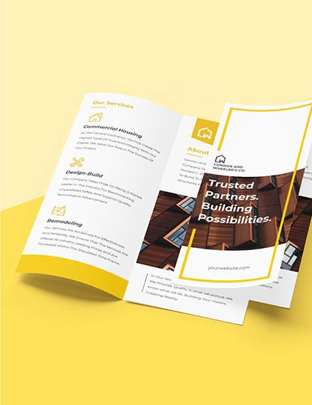 Commercial Construction Brochure Sample