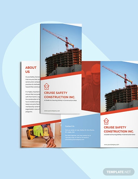Construction Safety TriFold Brochure Printable