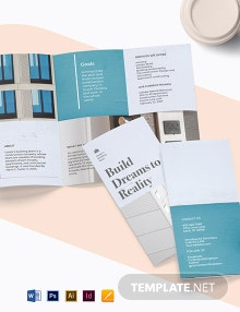 Apartment Construction Tri-Fold Brochure Template