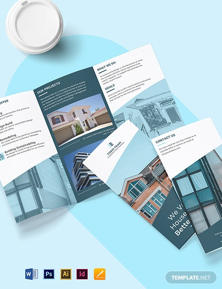 Industrial & Commercial Tri-Fold Brochure Template