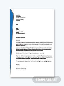 Letter of Intent for Job Application Template