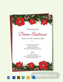 Free Funeral Repast Invitation Template