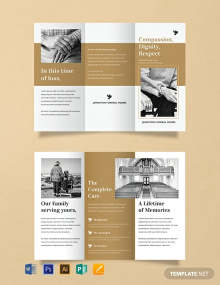 Free Funeral Brochure Template