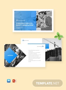 Construction Site Safety Presentation Template