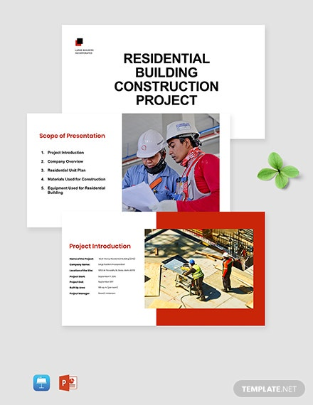 residential building Presentation Template sample