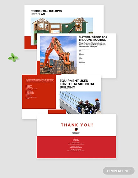 residential building Presentation Template download