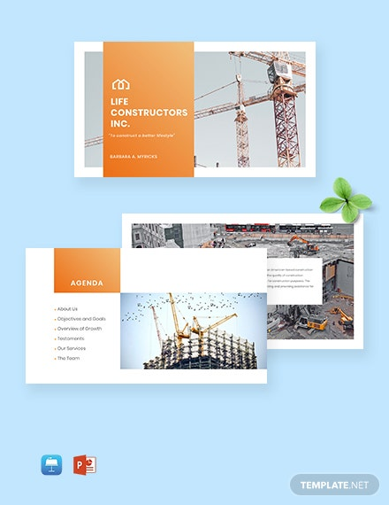 Construction Company Presentation Template