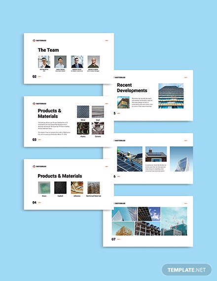building materials Presentation Template