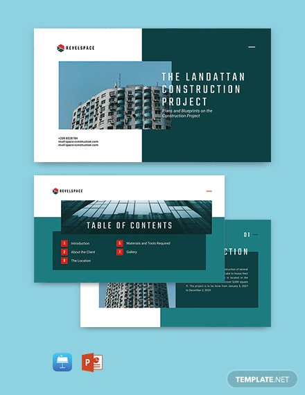 Construction Project Presentation Template