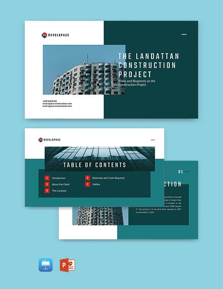 Construction Project Presentation Template