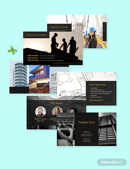 Construction management Presentation Template Format