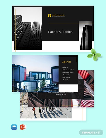Construction management Presentation Template