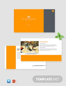 Creative Construction Presentation Template