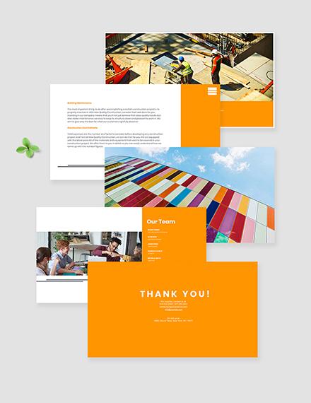 creative Construction Presentation Template Editable