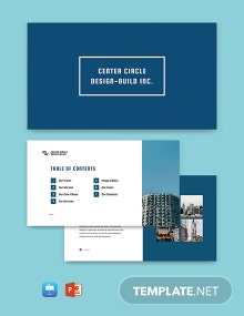 Free Modern Construction Presentation Template