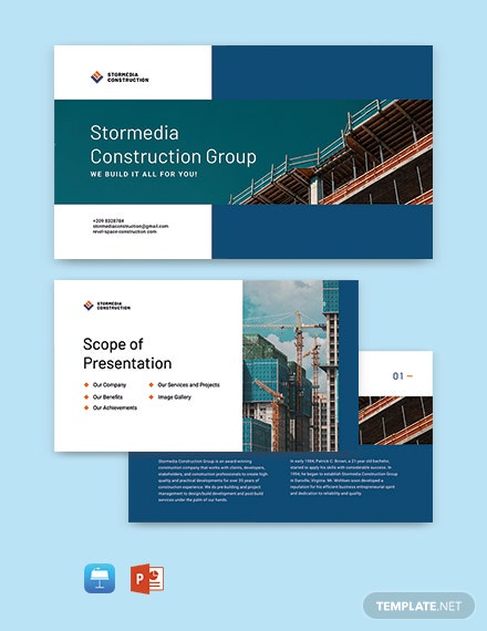 Free Sample Construction Presentation Template