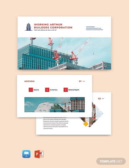 Free Simple Construction Presentation Template
