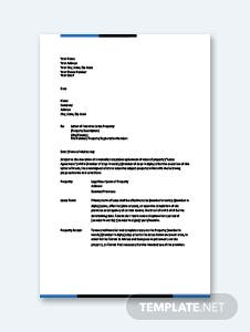 Letter of Intent to Lease Template