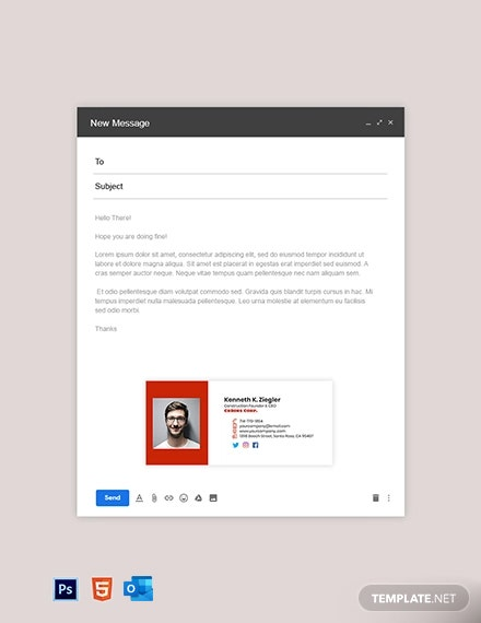 Construction Founder & CEO Email Signature Template