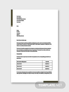 Letter of Intent to Purchase Equipment Template