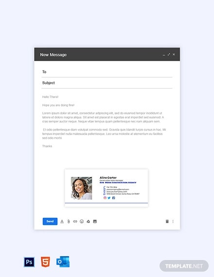 Construction Sales Manager Email Signature Template