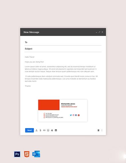 construction marketing EMail Signature