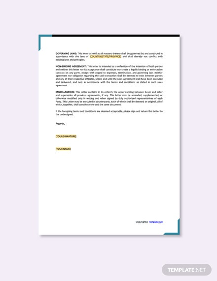 Letter of Intent to Purchase Goods Template [Free PDF] - Google Docs, Word, Apple Pages