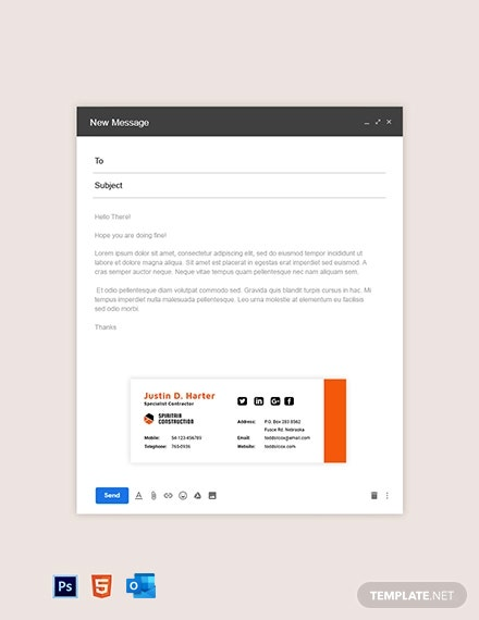 Contractor Email Signature Template