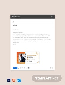 Free Modern Construction Email Signature Template