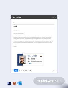 Free Simple Construction Email Signature Template