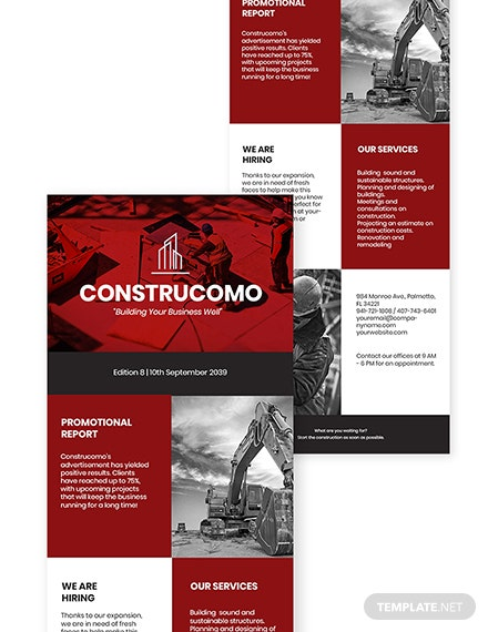 Constructional Promotional Newsletter Template