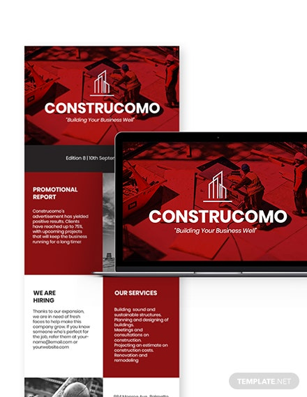 Simple Constructional Promotional Newsletter