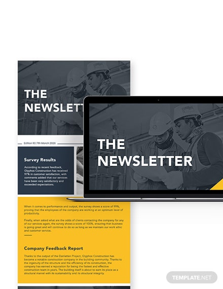 Simple Survey  Feedback Construction Company Newsletter