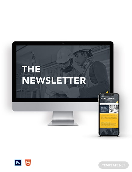 Survey & Feedback Construction Company Newsletter Template
