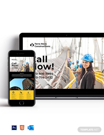 Builders Newsletter Template