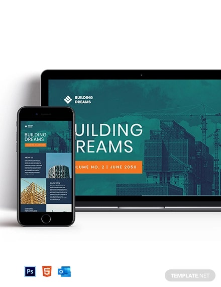 Building Site Newsletter Template
