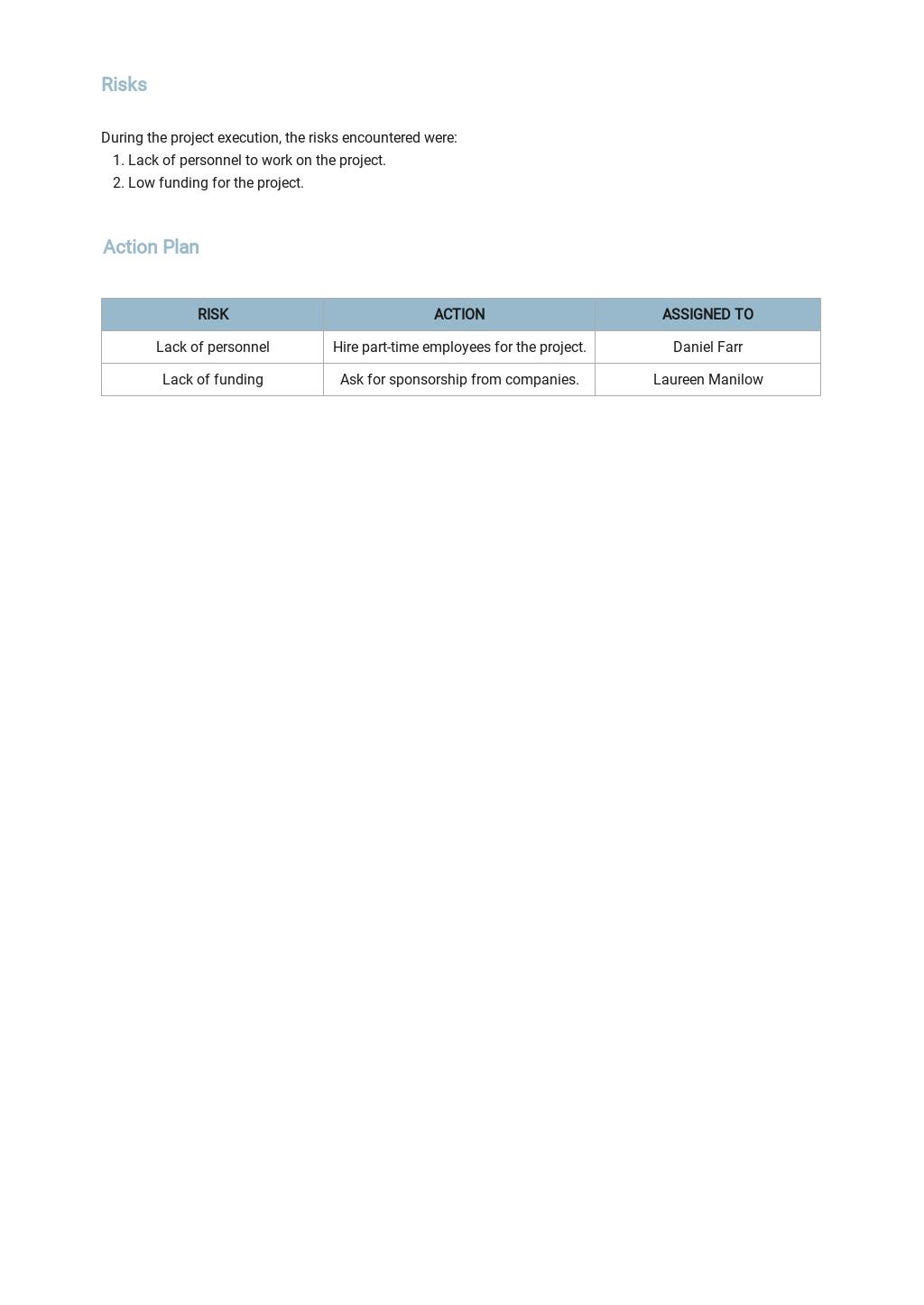 Free Company Weekly Status Report Template 2.jpe