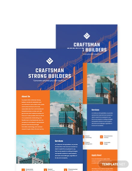 Construction Company Newsletter Template