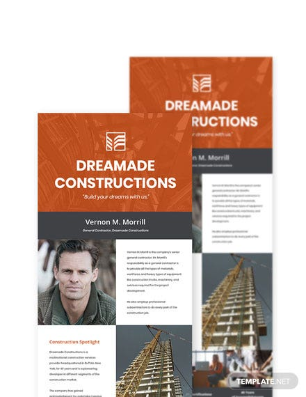 General Contractor Newsletter Template