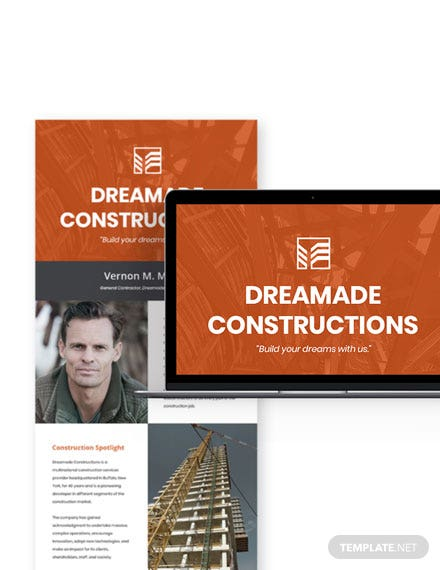 Simple General Contractor Newsletter