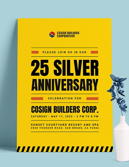 construction company party invitation template