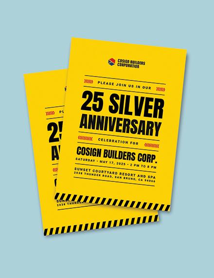 printable construction company party invitation