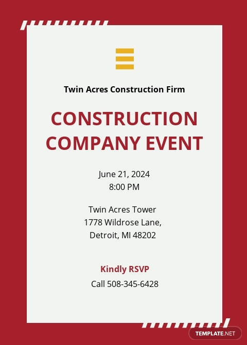 Sample Construction Invitation Template