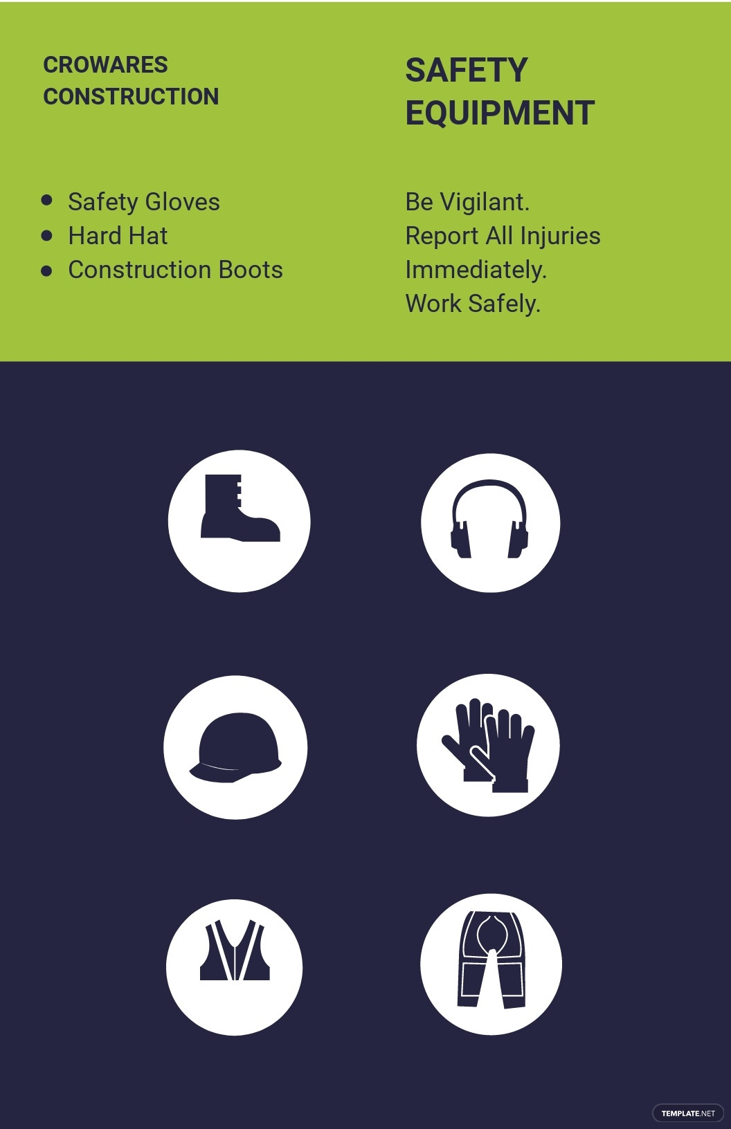 Construction & Equipment Safety Poster Template.jpe