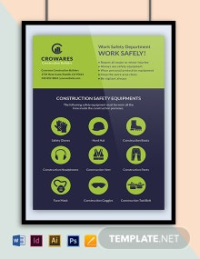 Construction & Equipment Safety Poster Template